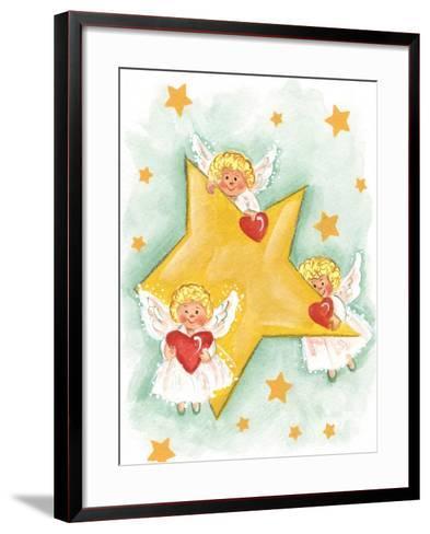 Angels and Stars-Beverly Johnston-Framed Art Print
