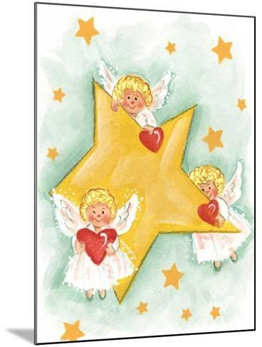 Angels and Stars-Beverly Johnston-Mounted Giclee Print