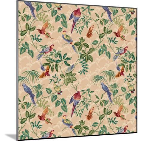 Aviary Small Scroll Neutral-Bill Jackson-Mounted Giclee Print