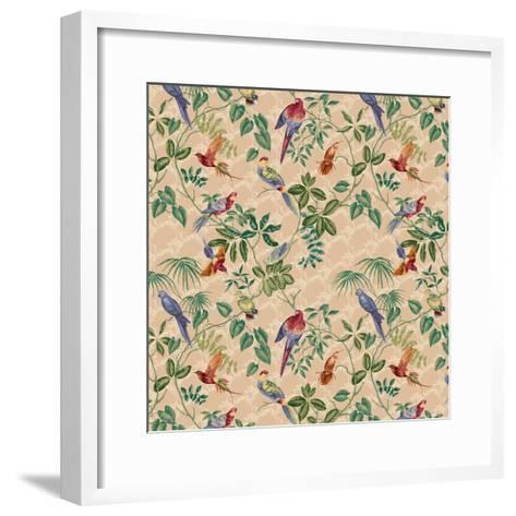 Aviary Small Scroll Neutral-Bill Jackson-Framed Art Print