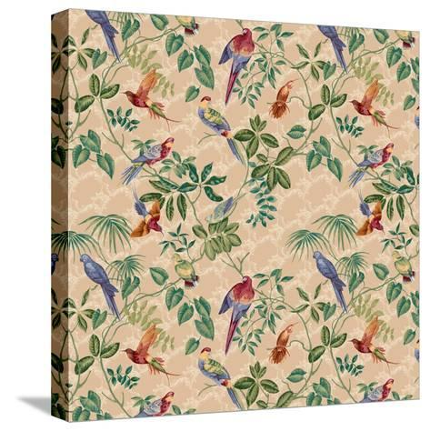 Aviary Small Scroll Neutral-Bill Jackson-Stretched Canvas Print