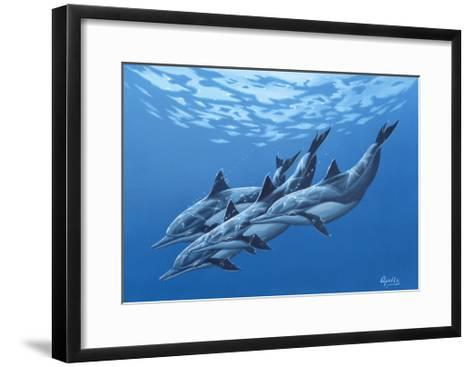 Swimming with the Dolphins-Apollo-Framed Art Print