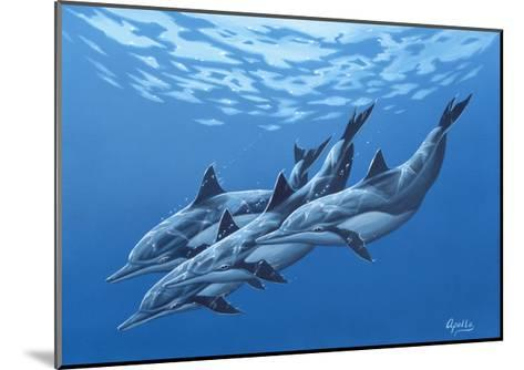Swimming with the Dolphins-Apollo-Mounted Giclee Print