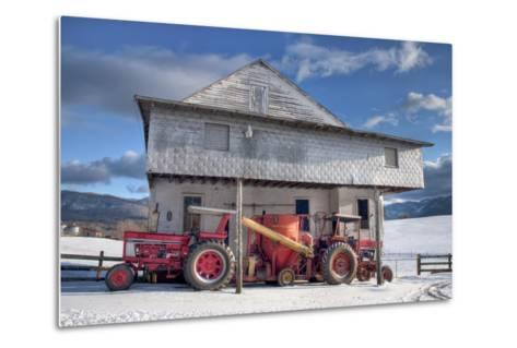 Winter at the Mill-Bob Rouse-Metal Print