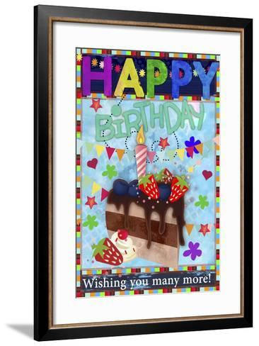 Birthday Art Amurad 002-Asmaa' Murad-Framed Art Print