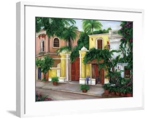 Hacienda Parrots-Betty Lou-Framed Art Print