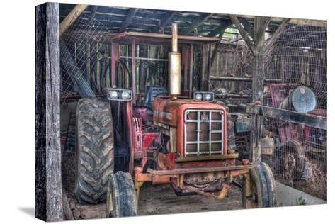 Old Tractor Shed-Bob Rouse-Stretched Canvas Print