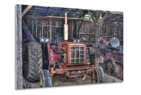 Old Tractor Shed-Bob Rouse-Metal Print