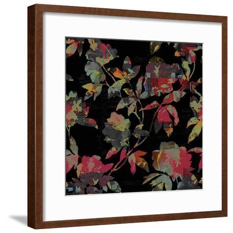 Mudan Silhouette Floral-Bill Jackson-Framed Art Print