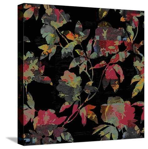 Mudan Silhouette Floral-Bill Jackson-Stretched Canvas Print
