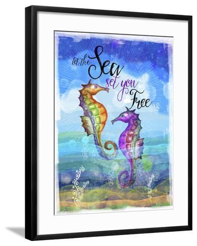 Coastal Joy 2-Asmaa' Murad-Framed Art Print