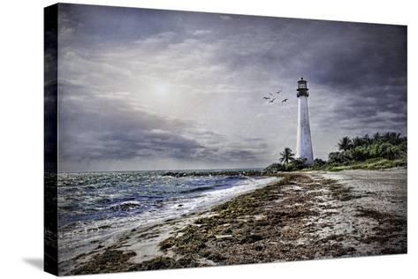 Key Biscayne Lighthouse-Barbara Simmons-Stretched Canvas Print