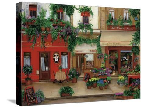 Le Bistro Rouge-Betty Lou-Stretched Canvas Print