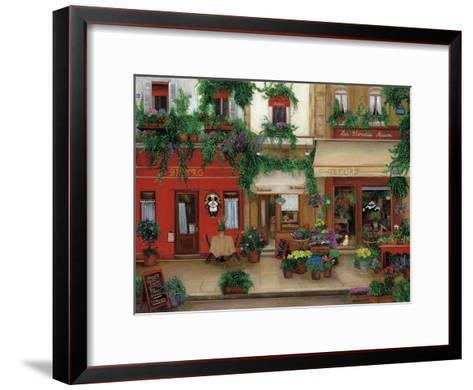 Le Bistro Rouge-Betty Lou-Framed Art Print
