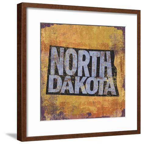 North Dakota-Art Licensing Studio-Framed Art Print