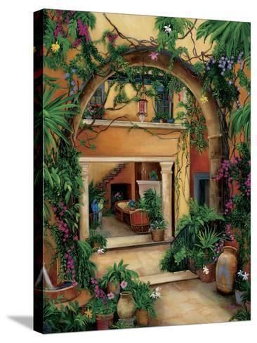 Hacienda Courtyard-Betty Lou-Stretched Canvas Print