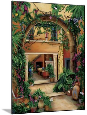 Hacienda Courtyard-Betty Lou-Mounted Giclee Print