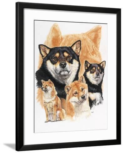 Shiba Inv + Ghost-Barbara Keith-Framed Art Print