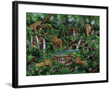 Peaceful Jungle-Betty Lou-Framed Art Print