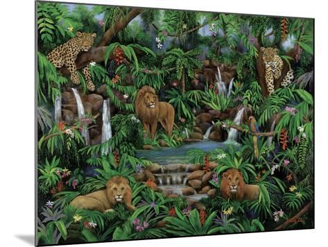 Peaceful Jungle-Betty Lou-Mounted Giclee Print