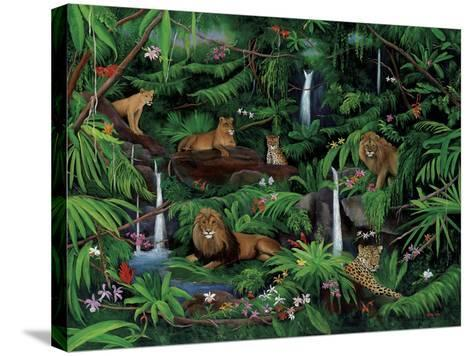 A Den of Lions-Betty Lou-Stretched Canvas Print
