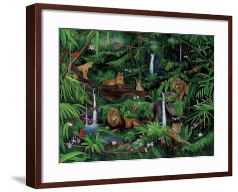 A Den of Lions-Betty Lou-Framed Art Print