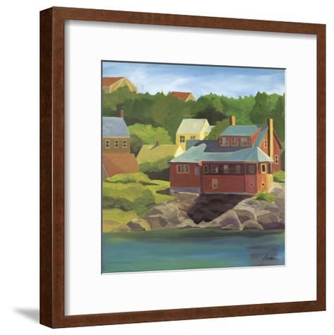 Red House Monhegan-Catherine Breer-Framed Art Print