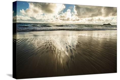 Waimanalo Beach Sunrise-Cameron Brooks-Stretched Canvas Print
