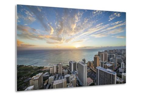 Waikiki Strip-Cameron Brooks-Metal Print
