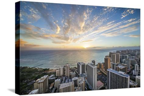 Waikiki Strip-Cameron Brooks-Stretched Canvas Print