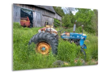 Blue Tractor-Bob Rouse-Metal Print