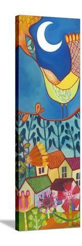 Bird and Moon-Carla Bank-Stretched Canvas Print