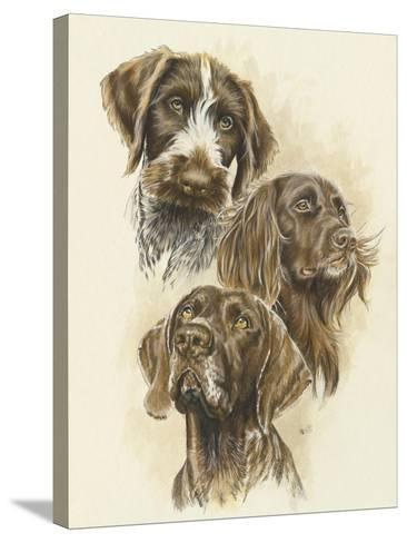 German Pointers-Barbara Keith-Stretched Canvas Print