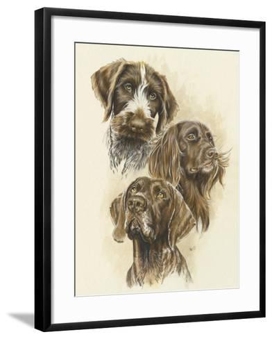 German Pointers-Barbara Keith-Framed Art Print