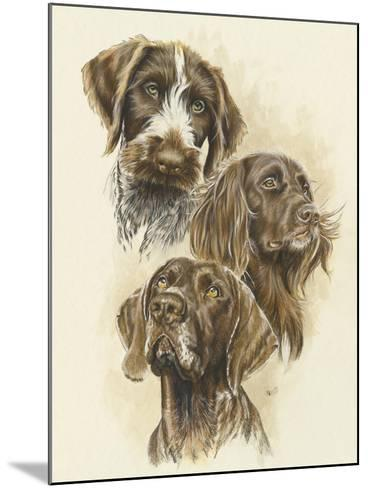 German Pointers-Barbara Keith-Mounted Giclee Print