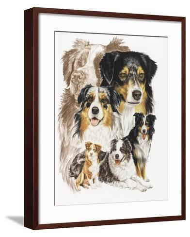 Australian Shepherds-Barbara Keith-Framed Art Print