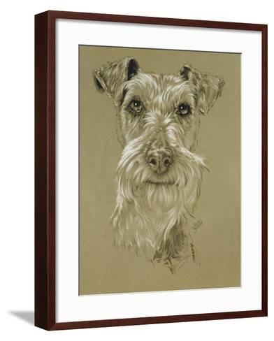 Irish Terrier-Barbara Keith-Framed Art Print