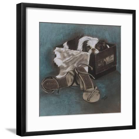 Japanese Chin-Barbara Keith-Framed Art Print