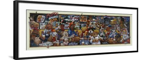 Mo' Mutts Sports Bar-Bill Bell-Framed Art Print