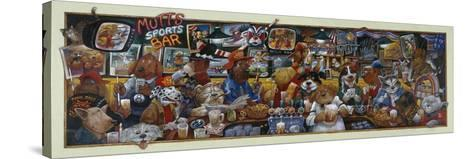 Mo' Mutts Sports Bar-Bill Bell-Stretched Canvas Print