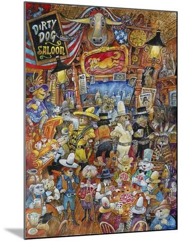 Dirty Dog Saloon-Bill Bell-Mounted Giclee Print