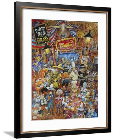 Dirty Dog Saloon-Bill Bell-Framed Art Print
