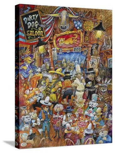 Dirty Dog Saloon-Bill Bell-Stretched Canvas Print