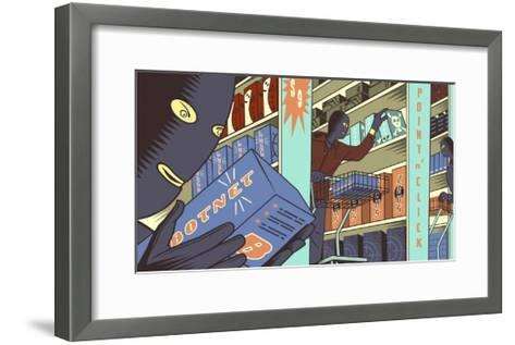 Cybercrime-Bill Butcher-Framed Art Print