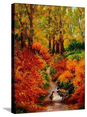 Pheasant Road-Bonnie B. Cook-Stretched Canvas Print
