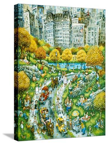 Central Park Sunday-Bill Bell-Stretched Canvas Print