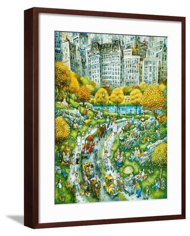 Central Park Sunday-Bill Bell-Framed Art Print