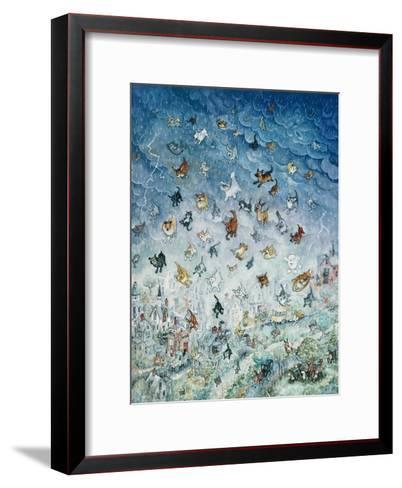 Raining Cats and Dogs-Bill Bell-Framed Art Print