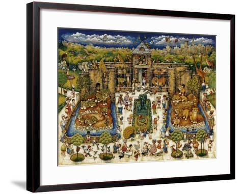 Cats and Kids at the Zoo-Bill Bell-Framed Art Print