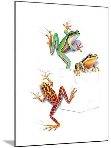 Frogs--Mounted Giclee Print